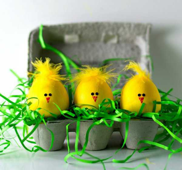 Яйца крашенные акриловой краской