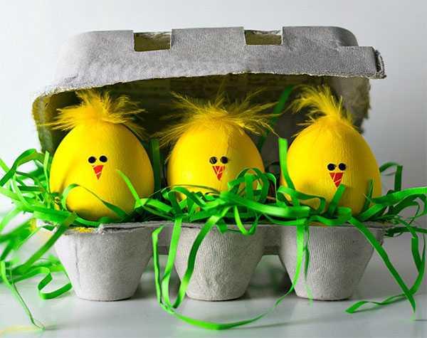 Вариант декора яиц на Пасху